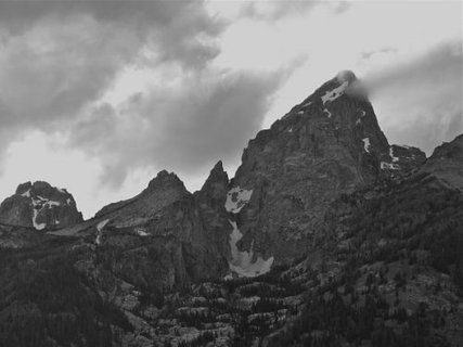 Grand Tetons in Black and White