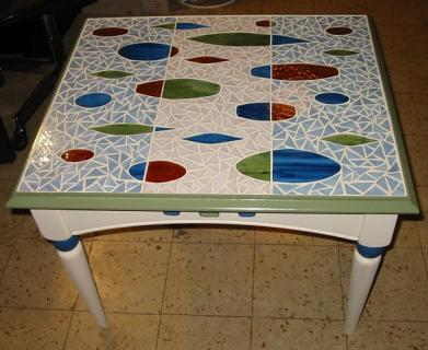 Midcentury mosaic table