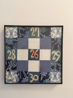 Graphic Blue Paper Quilt