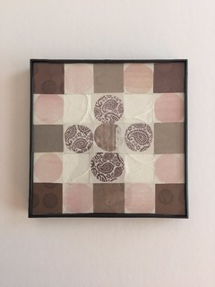 Pink and Brown Mini Quilt