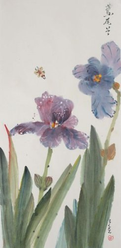Iris With Bees